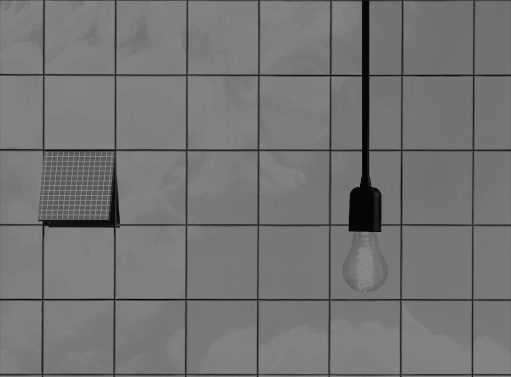 Solar Energy hanging light bulb window clouds